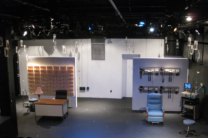 Paul Clay's Set Design for the production entitled Not God, Full Stage View.