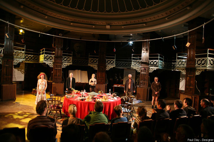 Paul Clay's Set Design, Lighting Design, and Video Design, for National Theatre Wales, Volcano Theatre, Welsh National Opera's co-production entitled Shelf Life at the Old Swansea Library, Wales, UK-20